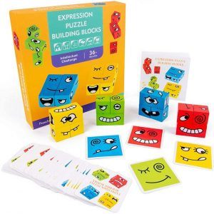 Expression Puzzle Building Blocks